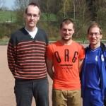 Michael Kluckhuhn (li.) mit Gerrit Witter und Dirk Vögeli